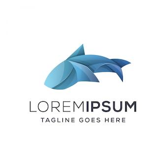 Illustratie van een haai-logo