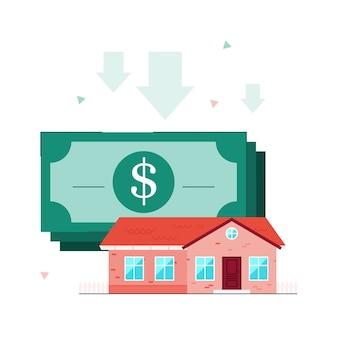 Illustratie van een hypotheek. concept krediet, lening.