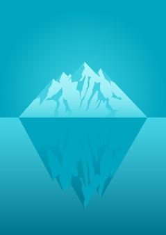 Illustratie van een ijsberg