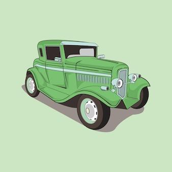 Illustratie van een klassieke auto