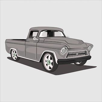 Illustratie van een klassieke pick-up