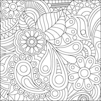 Illustratie van een kleurplaat met fijne details