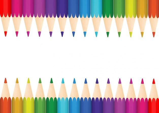 Illustratie van een kleurrijke gemaakt van kleurpotloden. mooi
