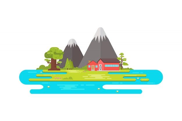 Illustratie van een landschap