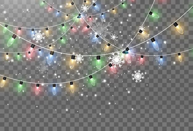 Illustratie van een lichtslinger op transparant