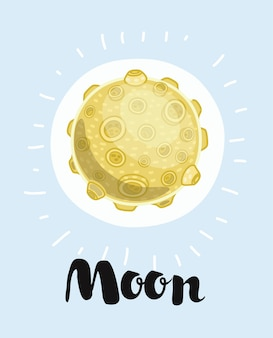 Illustratie van een maan,