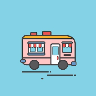 Illustratie van een motorhome