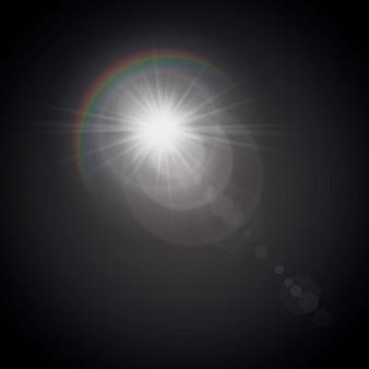 Illustratie van een ochtendster met een gloei-effect.