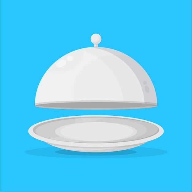 Illustratie van een pictogram van een cloche-restaurant