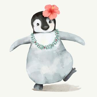 Illustratie van een pinguïn baby