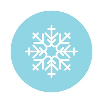 Illustratie van een schattige sneeuwvlok