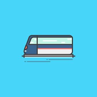 Illustratie van een snel rijdende trein