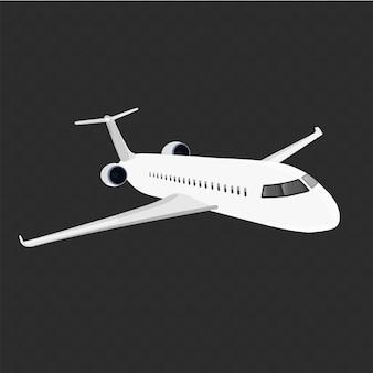 Illustratie van een vliegend vliegtuig