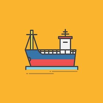 Illustratie van een vrachtschip