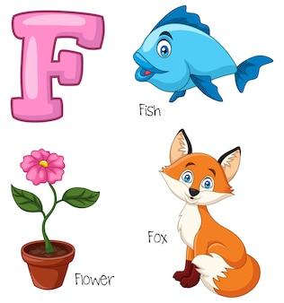 Illustratie van f-alfabet