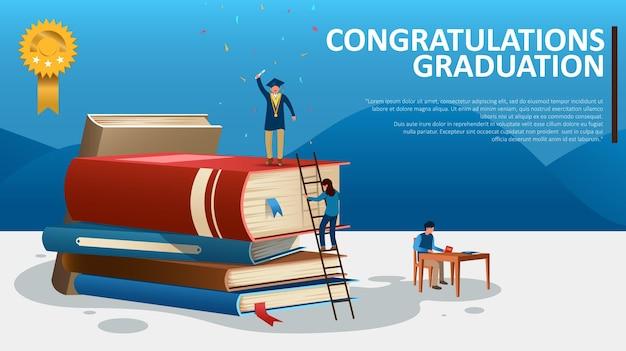 Illustratie van felicitatie afstuderen voor bachelors degree