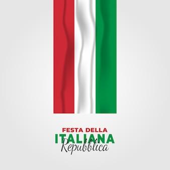 Illustratie van festa della repubblica italiana. dag van de italiaanse republiek.