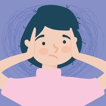 Illustratie van gefrustreerde vrouw