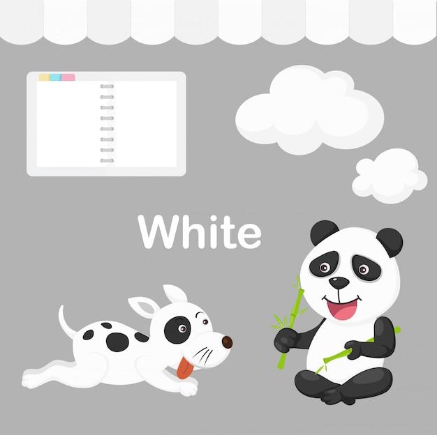 Illustratie van geïsoleerde kleuren witte groep