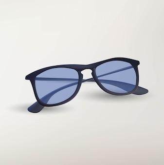 Illustratie van geïsoleerde zonnebril