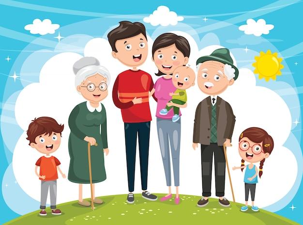 Illustratie van gelukkige familie