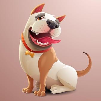 Illustratie van gelukkige hond