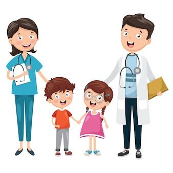 Illustratie van gezondheidszorg en medisch