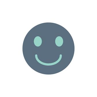 Illustratie van glimlachend emojigezicht