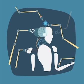 Illustratie van grafische robotvector