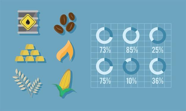 Illustratie van grondstoffen