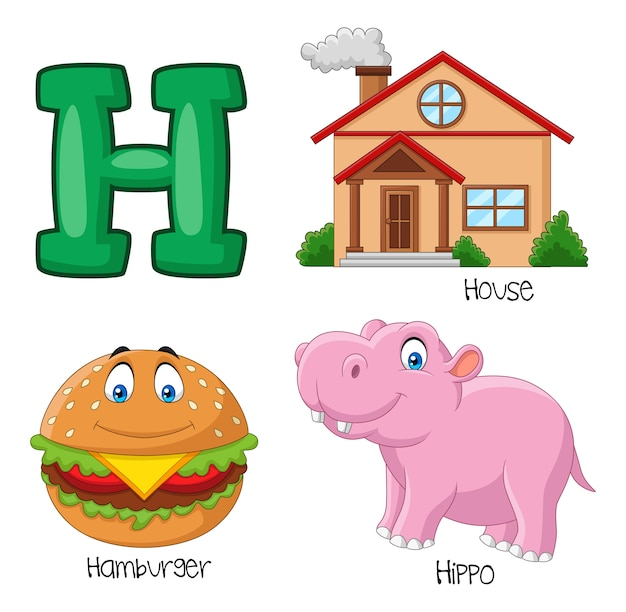 Illustratie van h-alfabet