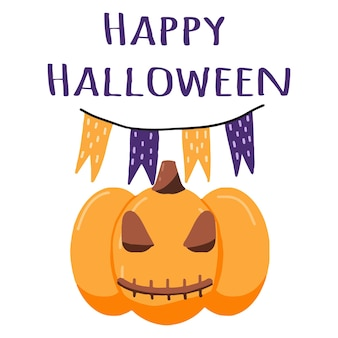 Illustratie van halloween-pompoen halloween-poster