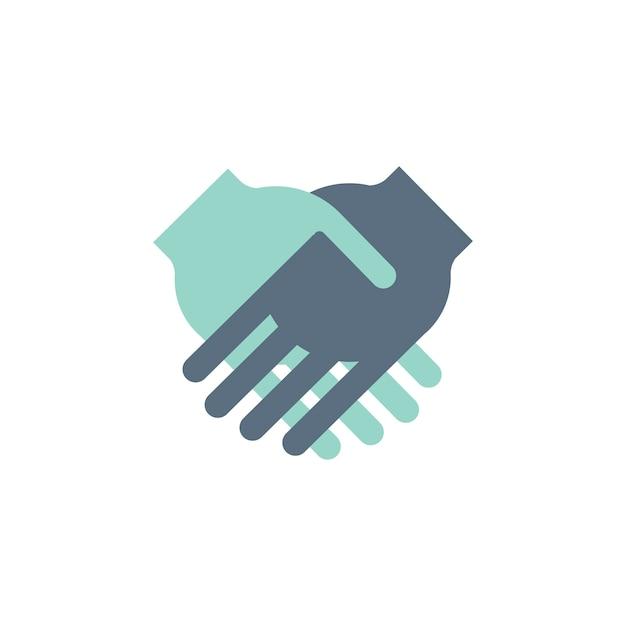 Illustratie van handen schudden overeenkomst