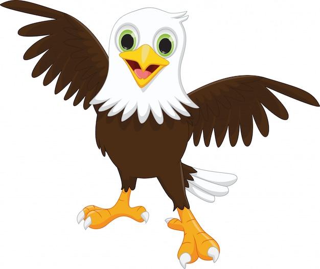 Illustratie van happy eagle cartoon