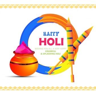 Illustratie van happy holi-poster