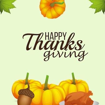 Illustratie van happy thanksgiving day achtergrond