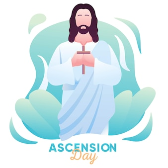 Illustratie van hemelvaart van jezus christus