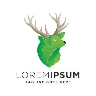 Illustratie van herten logo