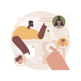 Illustratie van het delen van een baan