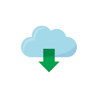 Illustratie van het downloaden van pictogram