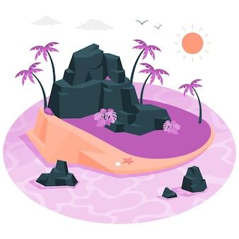 Illustratie van het eilandconcept