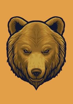 Illustratie van het grizzly de hoofdontwerp