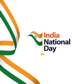 Illustratie van het het malplaatjeontwerp van india de nationale dag