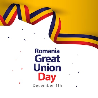 Illustratie van het het malplaatjeontwerp van roemenië de grote unie dag vector