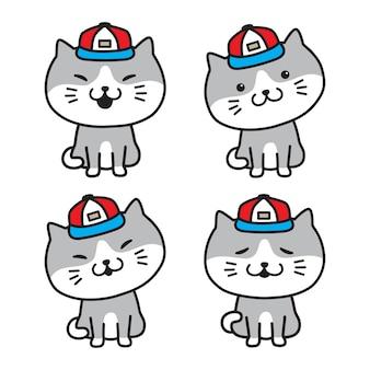 Illustratie van het het pictogramglb van het katten de vectorkatje calico