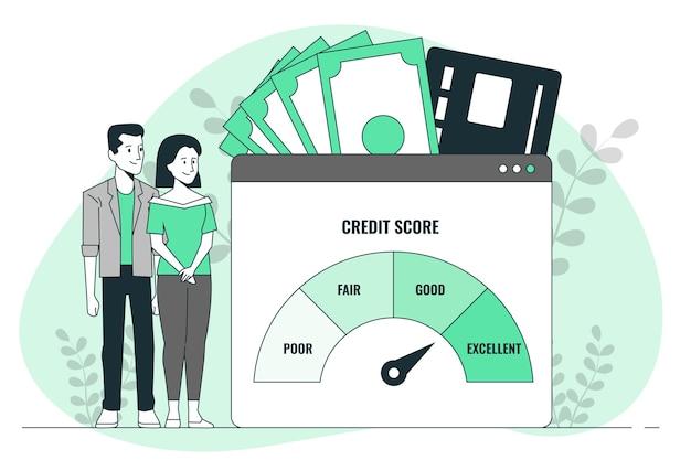 Illustratie van het kredietbeoordelingsconcept