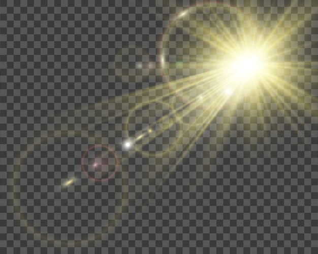 Illustratie van het licht van een ster voor een mooi beeld op een transparante achtergrond, met schittering en mooie glans