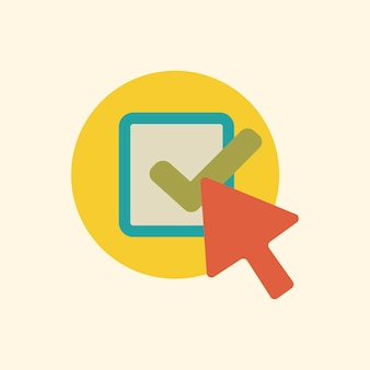 Illustratie van het pictogram van de controle-pijl