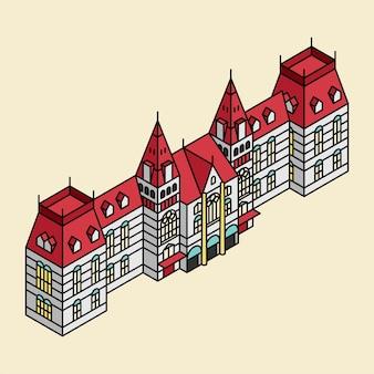 Illustratie van het rijksmuseum in nederland