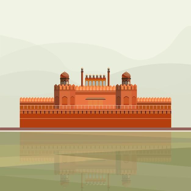 Illustratie van het rode fort
